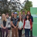 Die Grüne Jugend Ahrweiler mit Pia Schellhammer MdL (hinten rechts) und Milan Sühnhold (links), am 06.07.2014