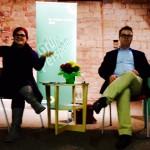 """Pia Schellhammer mit Dr. Tobias Lindner, MdB, bei der Diskussionsveranstaltung """"GRÜNE Perspektiven"""" in Maikammer, 19.10.2015"""