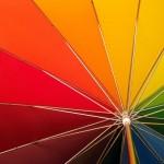 Regenbogen Regenschirm Queer