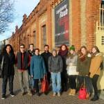 Pia Schellhammer besucht mit der GRÜNEN Jugend am 27.1.2014 die Gedenkstätte des KZ Osthofen